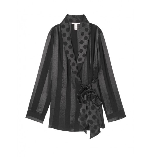 Халат Striped Satin Kimono Victoria's Secret